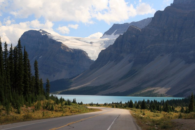 Incredible scenery on the road in Banff National Park