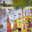 """Chicago - Art Institute """"Georges-Pierre Seurat - Sunday Afternoon on the Island of La Grande Jatte."""""""