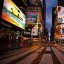 Stille am NY Times Square