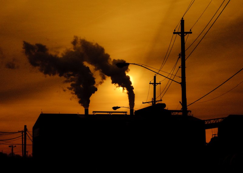 Cleveland Factory at Sunset