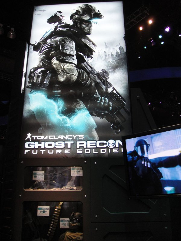 E3 2010 Tom Clancy's Ghost Recon Future Soldier demo booth at Ubisoft
