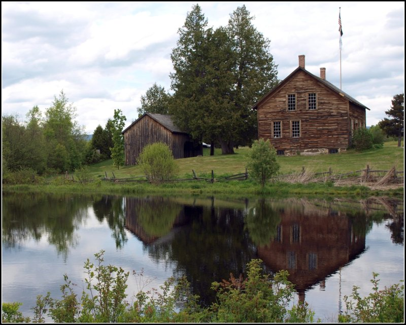 John Brown's Farmhouse (reflection view from rear)