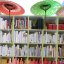 Color-coded shelves...