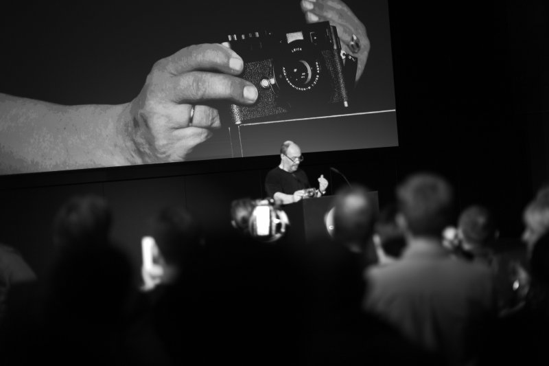 Andreas Kaufmann presenting the Leica M Monochrom in Berlin on May 10, 2012