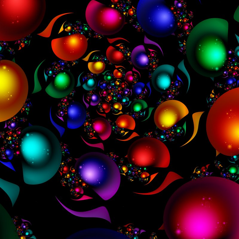 Bubbling around.. in Fractal world