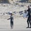 Father and son surf lesson in Morro Bay, CA 4 of 12