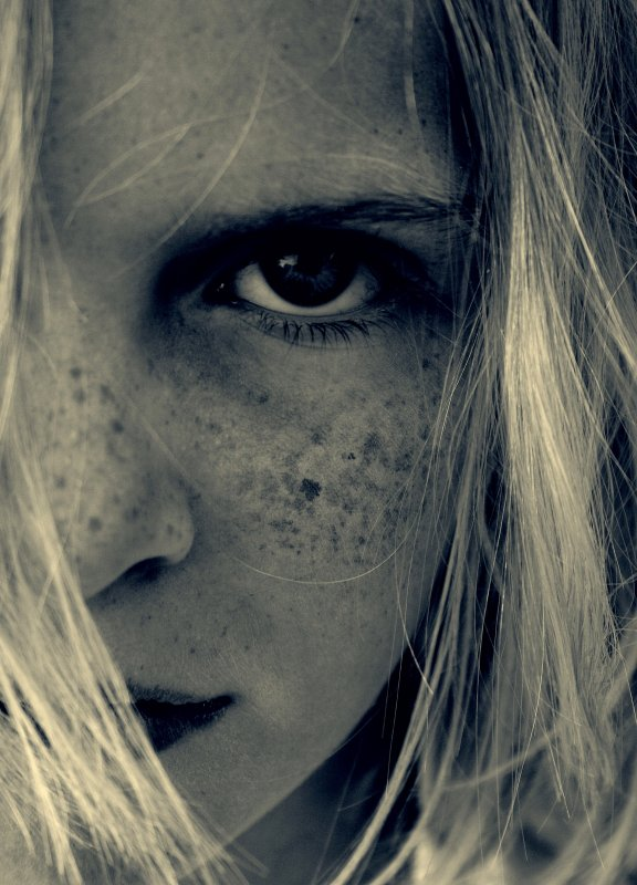 Eventide Girl With Freckles