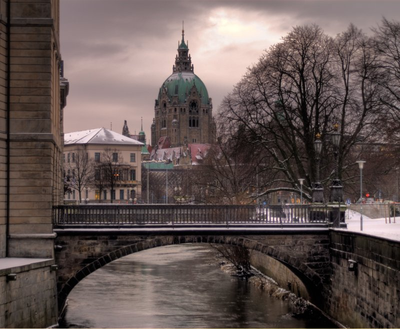 Schnee in Hannover