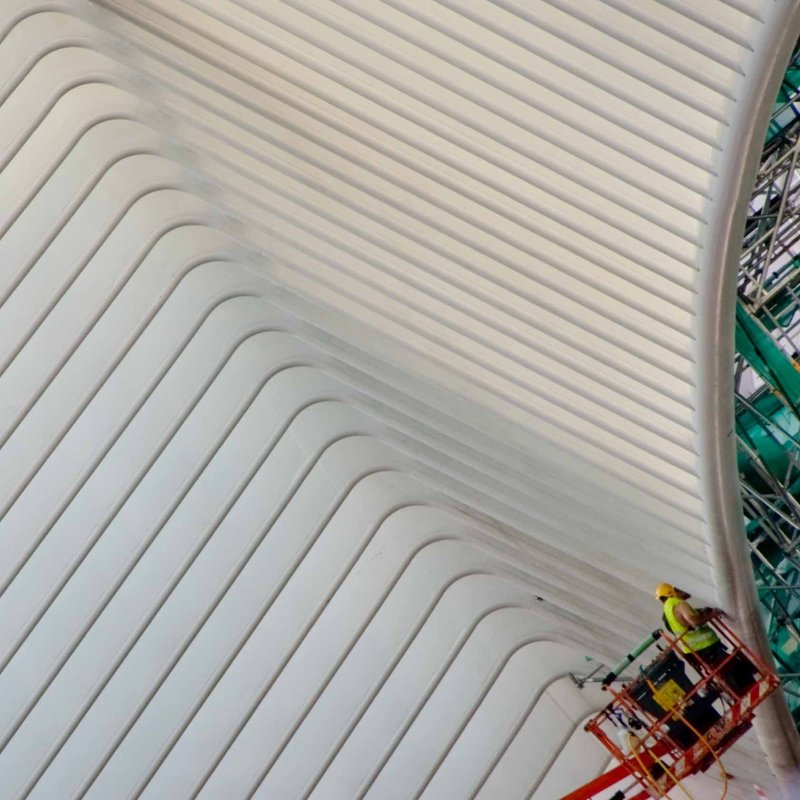 Work in progress at Guillemins