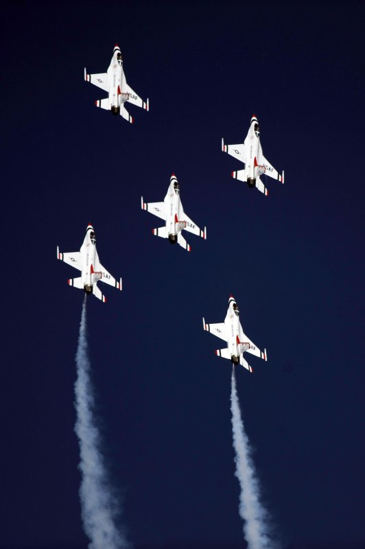 F-16 Fighting Falcons, Thunderbirds, US Air Force