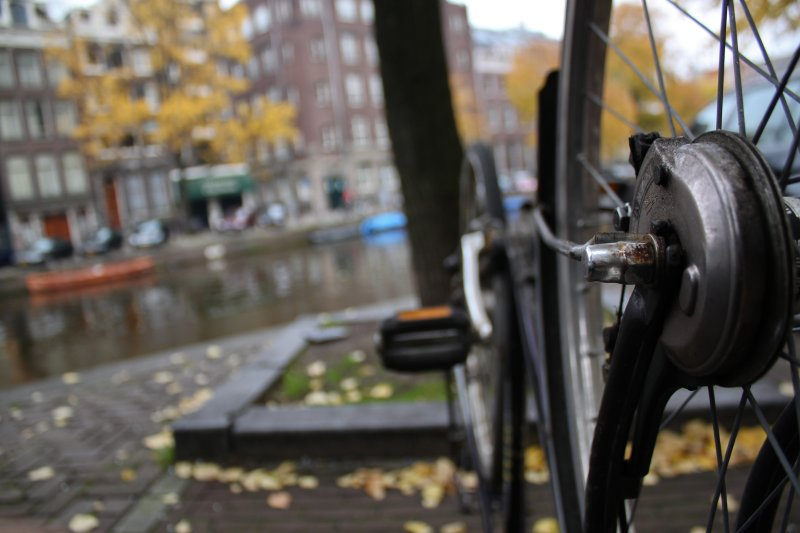 The Depth of a Bike (Down by the River - Amsterdam)