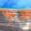 Great colors on the shore of the Grand Prismatic Spring, Yellowstone National Park