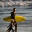 """Father and son surf lesson in Morro Bay, CA - image by Michael """"Mike"""" L. Baird"""