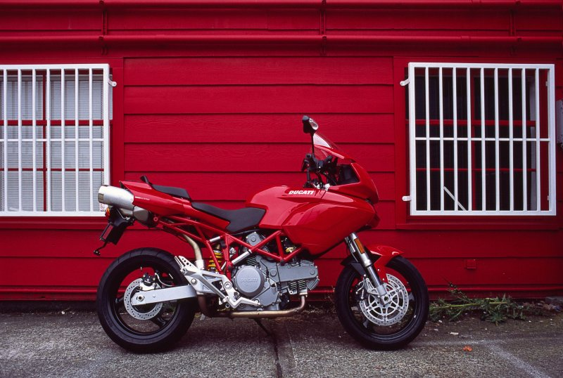 Red on red (Ducati at Ivey photo, Seattle)