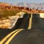 Endless Highway - roller coaster road in the desert near Valley of Fire State Park, Nevada