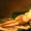 La Maja Desnuda (the Nude Woman) by Goya, at the Prado Museum in Madrid