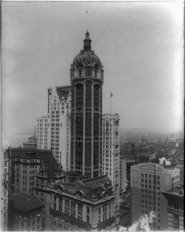 Singer Tower (demolished) from Library of Congress