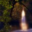 "Cincinnati - Spring Grove Cemetery & Arboretum ""Geyser Lake Fountain - Light & Water Blastoff"""