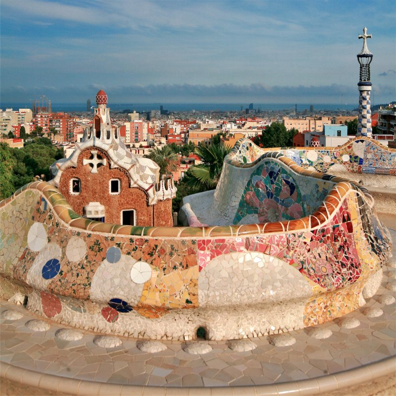 Park Guell of Antoni Gaudi in Barcelona