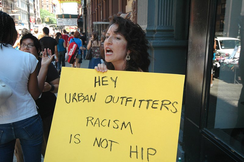 Protest at Urban Outfitters, in response to one of our t-shirts.