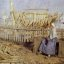 Henry Herbert La Thangue: A French Boat Building Yard