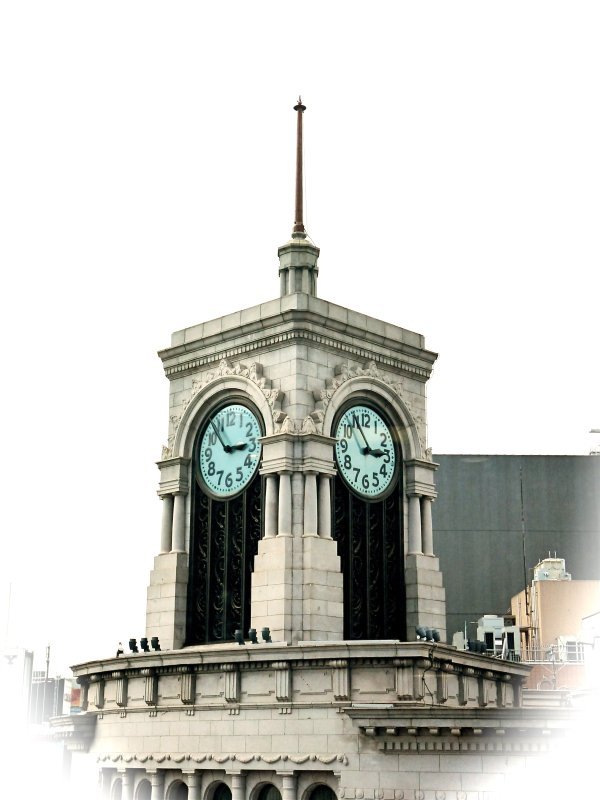 SEIKO セイコー History. Unique shot of the Wako Clock Tower in Ginza Tokyo Japan
