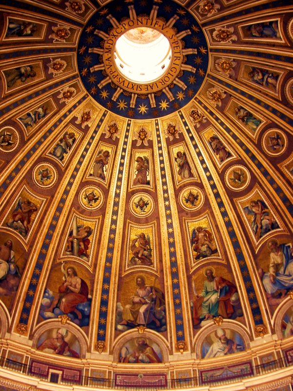 Vault of the St Peter basilica Rome Italy