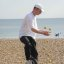 Tom James the unicycling juggler. . .