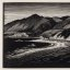 """Hills and The Sea"" - Paul Landacre - Wood Engraving - 1931"