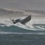2 of 3 Coast Guard 47' Motor Lifeboat performs storm exercises in wild surf at Morro Bay