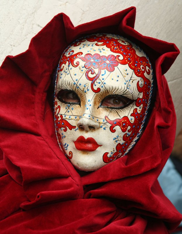 Very cool mask in red at the 2010 Carnevale in Venice (IMG_9633a)