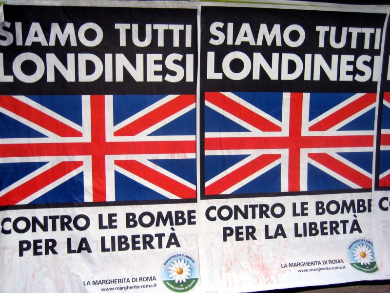 rome: poster of solidarity with london