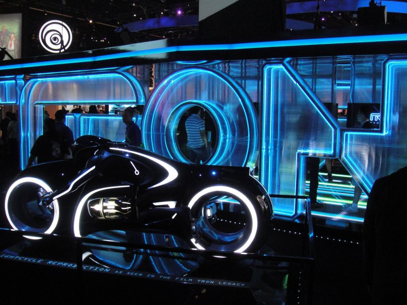E3 2010 Tron lightcycle reproduction from Tron Legacy