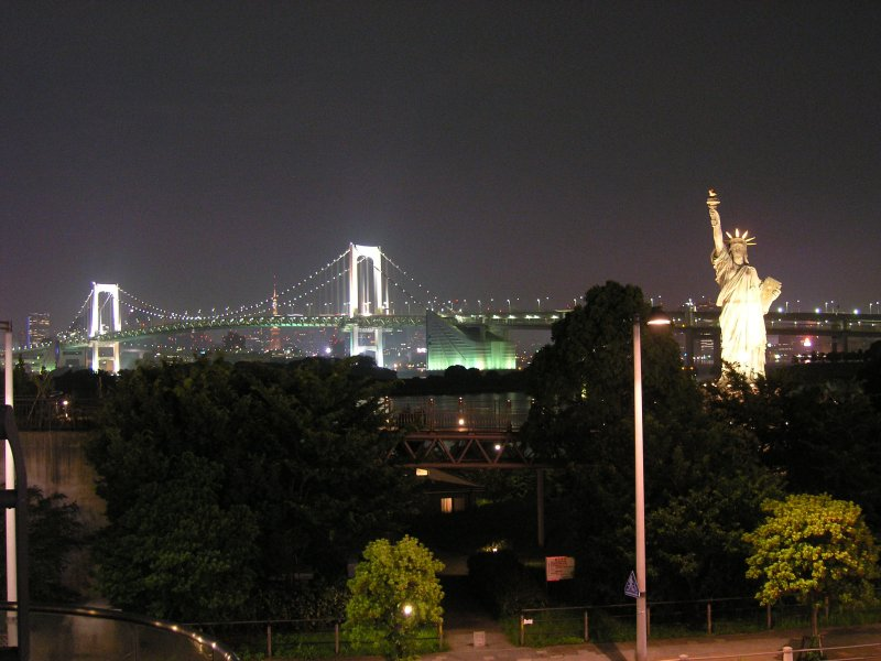 view of Tokyo from Odaiba