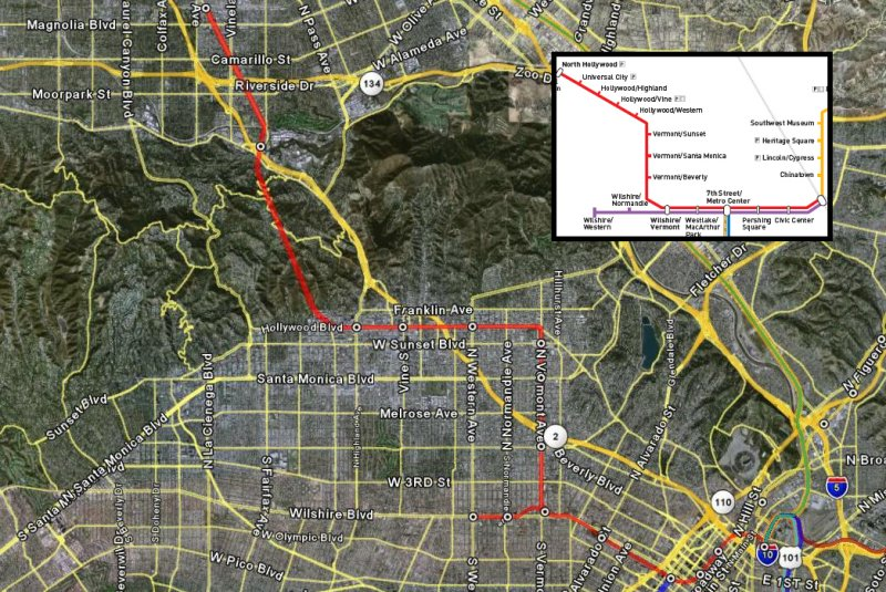 Red Line According to Google Earth - With Roads