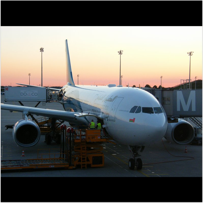 Connecting to our flight with OMAN AIR to Muscat, Sultanate of Oman in Munich : Airport / MUC : After coming in from London / LHR with LUFTHANSA! Enjoy aviation! :)