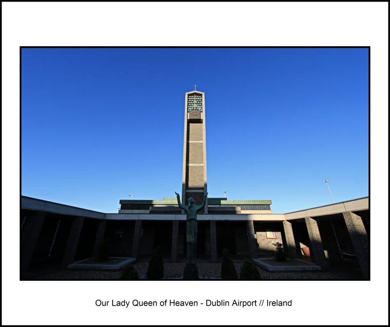 Blue Sky // Shadows and Light // Architectural Highlights // Our Lady Queen of Heaven // Dublin Airport // Republic of Ireland // Enjoy & Embrace Beauty!