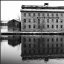 Seneca Knitting Mills Reflection (bw)