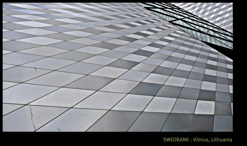 [ Grand Architectural Pleasure : Follow the Lines and be inspired ] @ The Swedbank Central Office Tower, Vilnius, Lithuania
