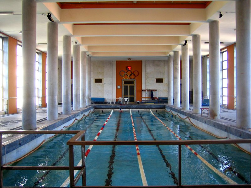 mussolini's private pool