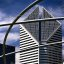"""Chicago - Stone Container Building from the Jay Pritzker Pavilion """"All wrapped up"""""""