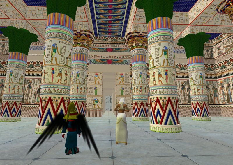 Immersive Archeology - Aura Lily breathes life into into the architecture and culture of Ancient Egypt