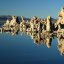 Tufa formation reflected on Mono Lake, California