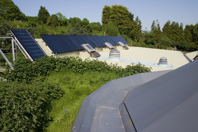 Brighton Earthship Roof Rainwater Collection
