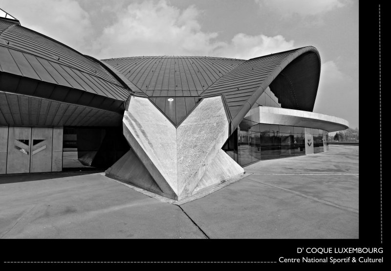 [ A Culture of Architectural Forward THINKING ] @ D' COQUE LUXEMBOURG : Centre National Sportif & Culturel : Grand Duchy of Luxembourg //  Designed by the French architect Roger Taillibert : ENJOY THE LINES!
