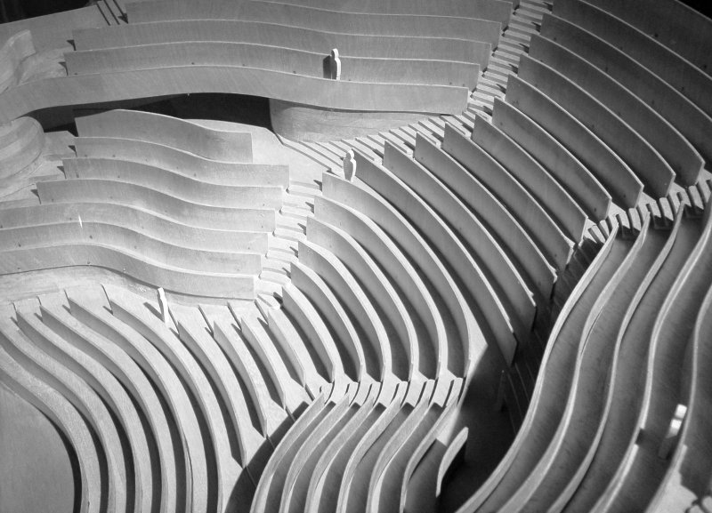 jørn utzon, architect, zürich theatre, 1964-c.1970, auditorium model