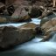 Long exposure shot of a small cascade on the Virgin River, Zion National Park