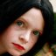 Fairytale Girl With Black Hair and Freckles