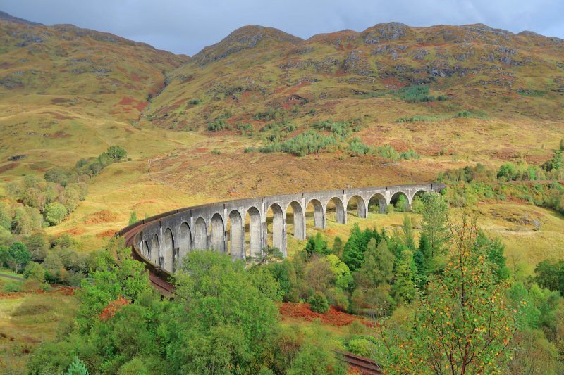 Glenfinnan-Viadukt in den West-Highlands