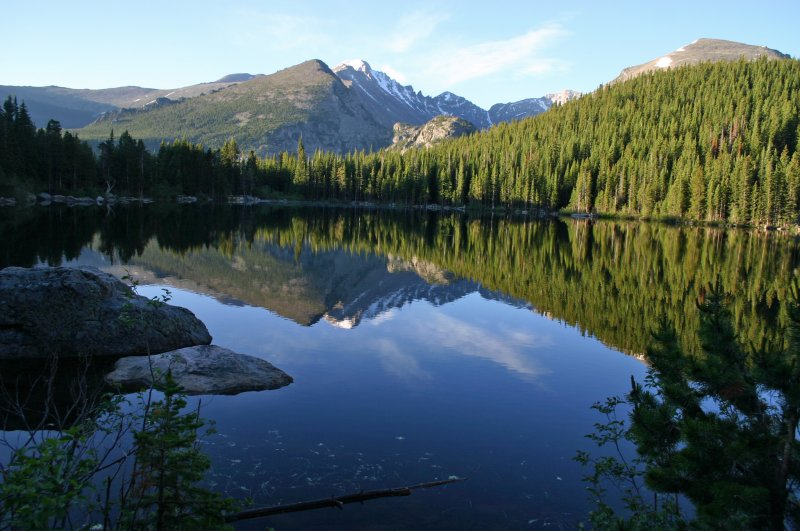 Reflection on Bear Lake in the Rocky Mountain National Park